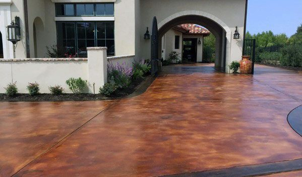 Stained Ideas Concrete Driveway