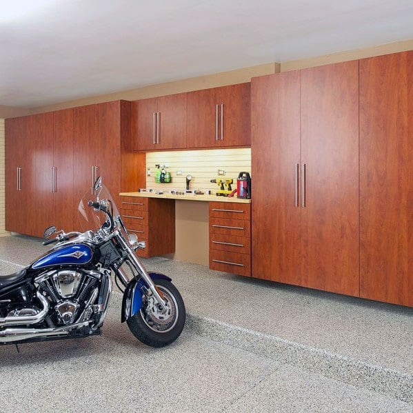 Stained Wood Cabinet Ideas For Garages