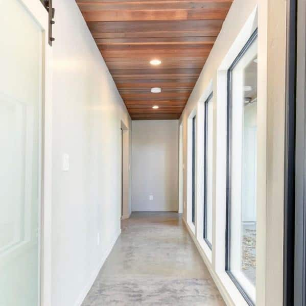 Stained Wood Ceiling Ideas For Hallway