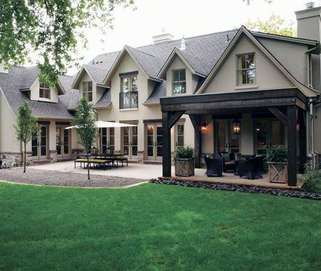 Stained Wood Ideas For Home Patio Roof