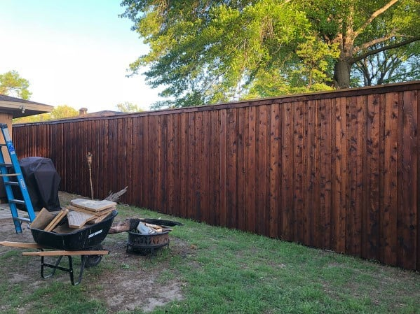 Stained Wooden Ideas Privacy Fence