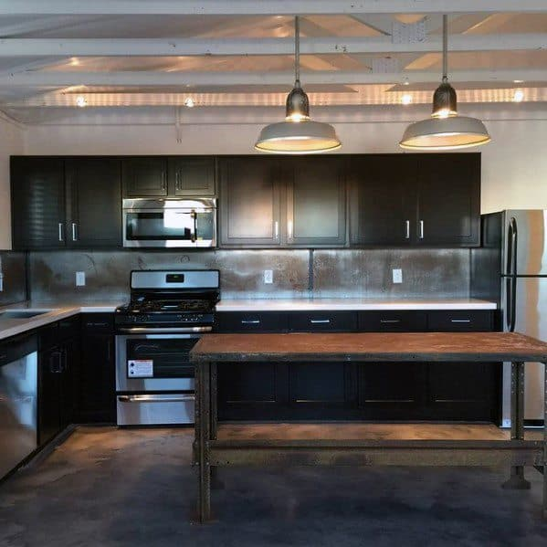 Top Best Metal Backsplash Ideas Kitchen Interior Designs