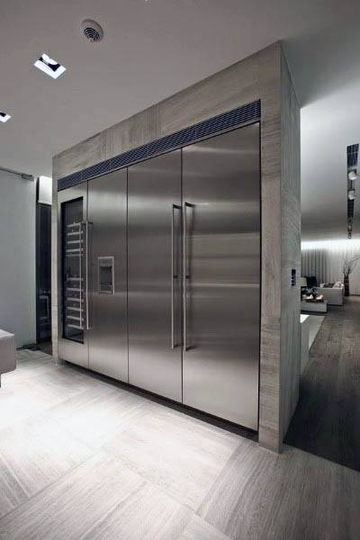 Stainless Steel Appliances In Modern Kitchen