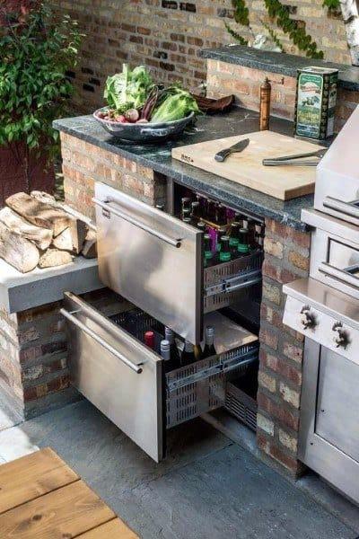 Stainless Steel Cabinet Storage Outdoor Kitchen Ideas