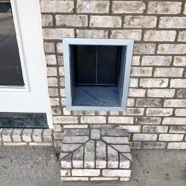 Stainless Steel Exterior Brick Step Doggy Door Home Designs