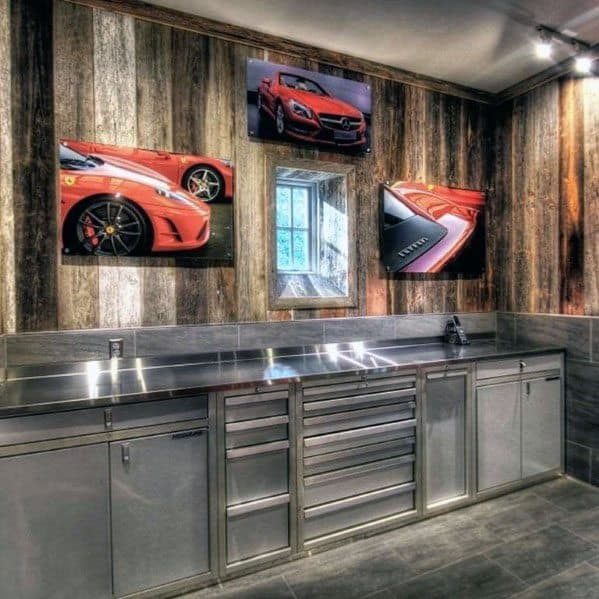 Stainless Steel Garage Cabinet Interior Ideas