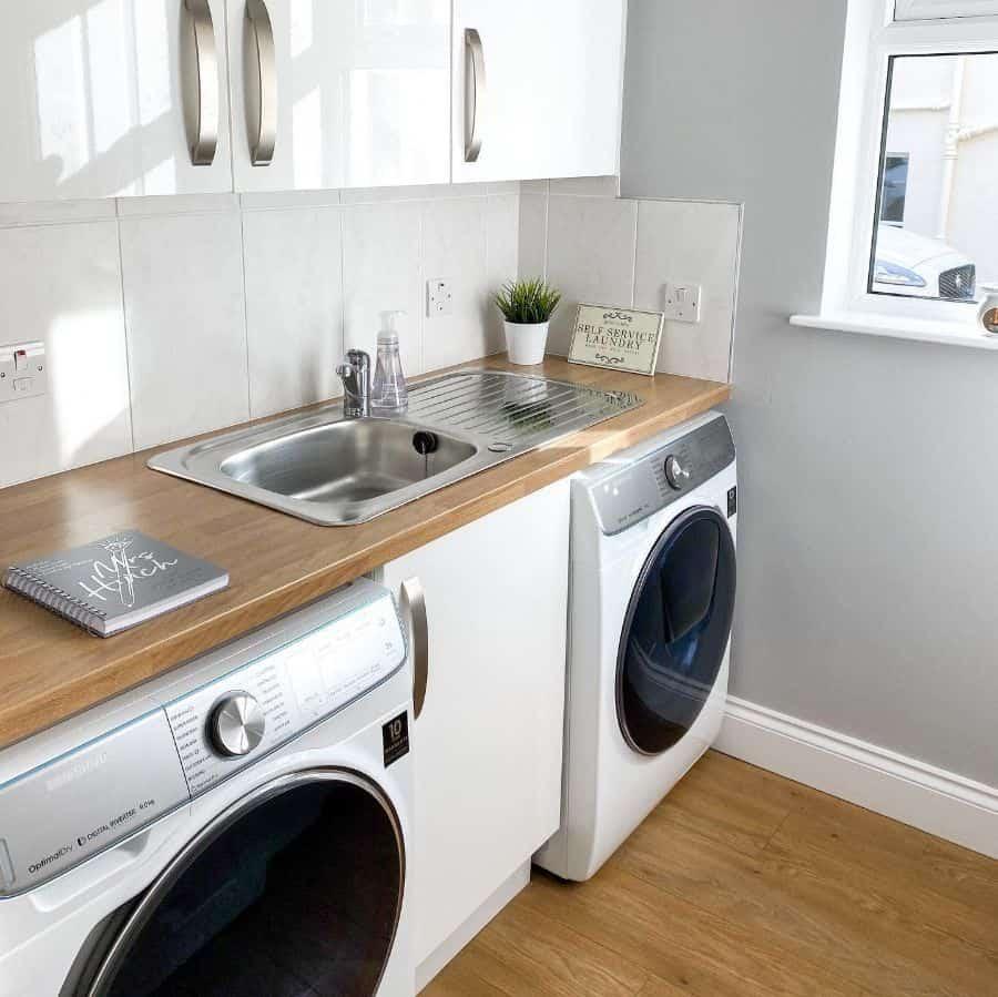 stainless steel laundry room sink ideas standrewscottage