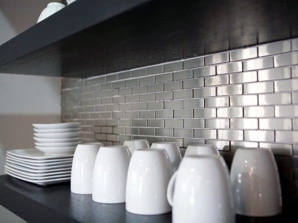 Stainless Steel Metal Backsplash Ideas