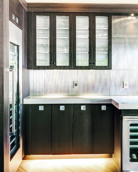Stainless Tiles Metal Bar Backsplash Ideas