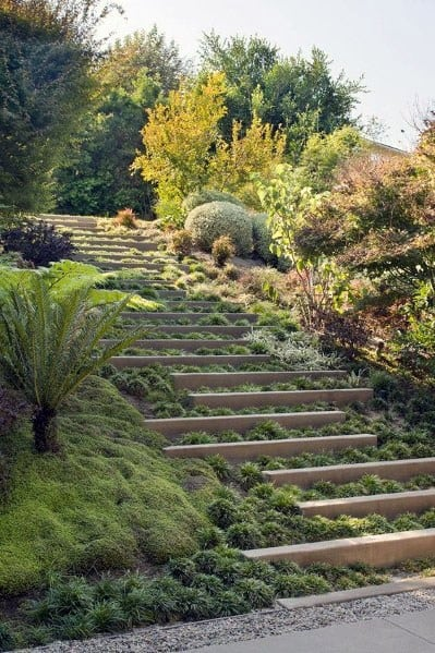 Stair Ideas For Home Slope Landscaping