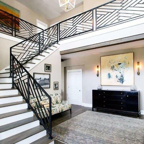 Modern Interior Staircase Materials Photo: Top 70 Best Stair Railing Ideas
