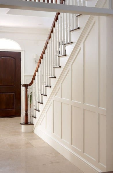 Stair Wainscoting Ideas Painted White