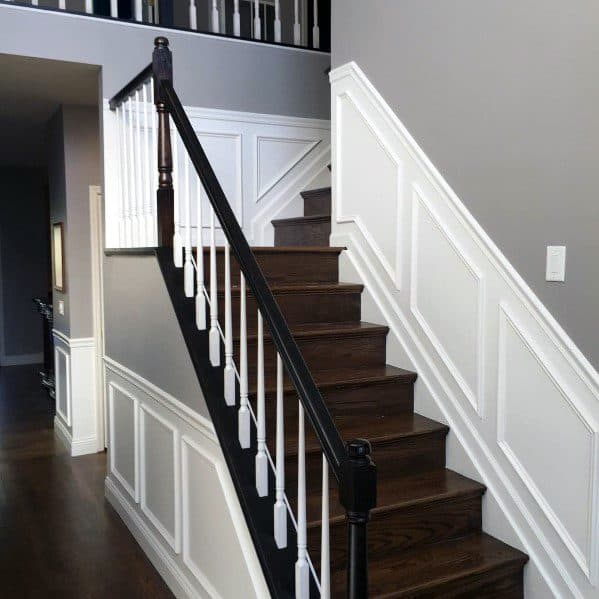 Staircase Chair Rail Cool Interior Ideas