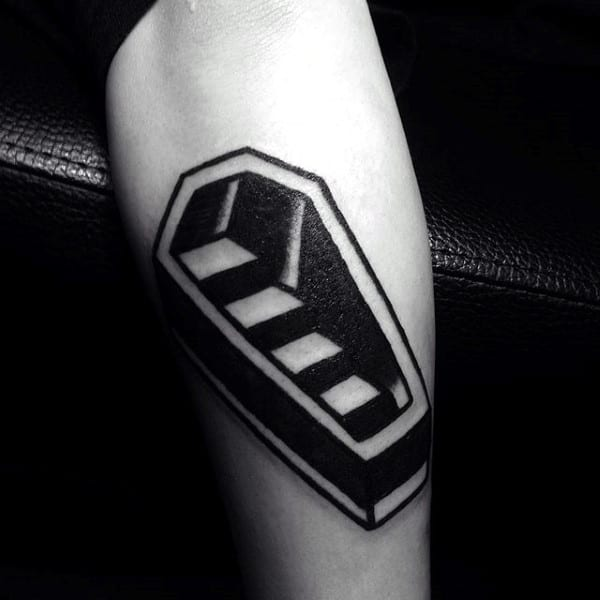 Staircase Coffin 3d Optical Illusion Tattoo For Men