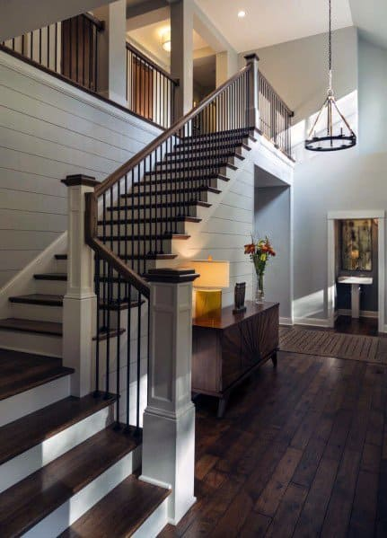 Staircase Design Ideas For Shiplap Wall