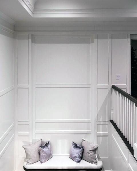 Staircase Hallway Luxury Crown Molding Ideas