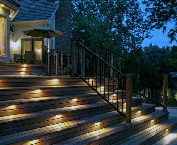 Top 60 best deck lighting ideas outdoor illumination staircase ideas for deck lighting exterior aloadofball Choice Image