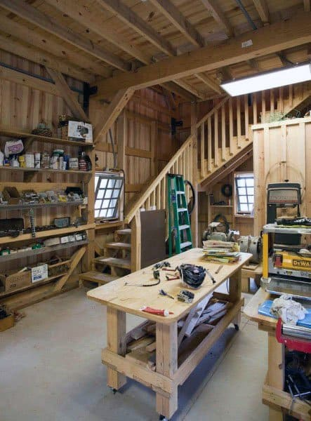 Staircase Ideas For Garage Workshop