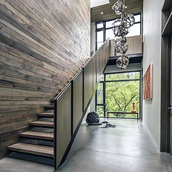 Staircase Ideas Metal And Wood Contemporary