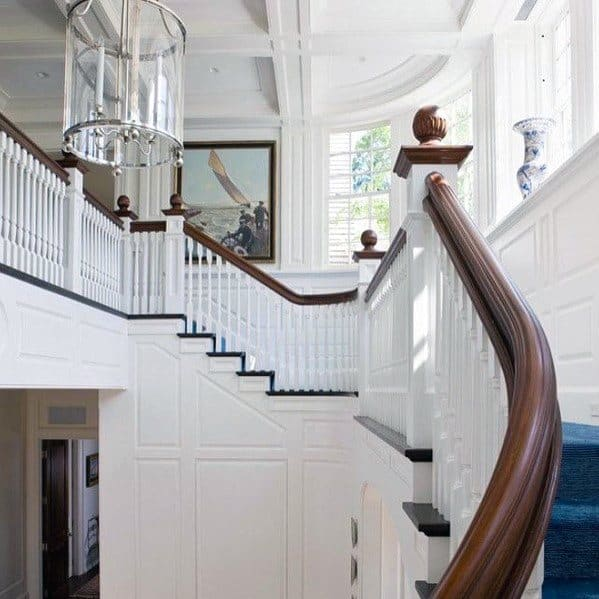 Staircase Impressive Coffered Ceiling Ideas