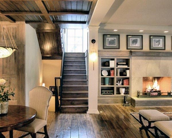 Staircase Rustic Basement Ideas