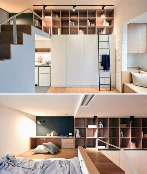 Stairs Bed Home Ideas Studio Apartments