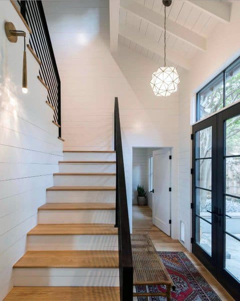 Stairs Ideas For Home Shiplap Wall