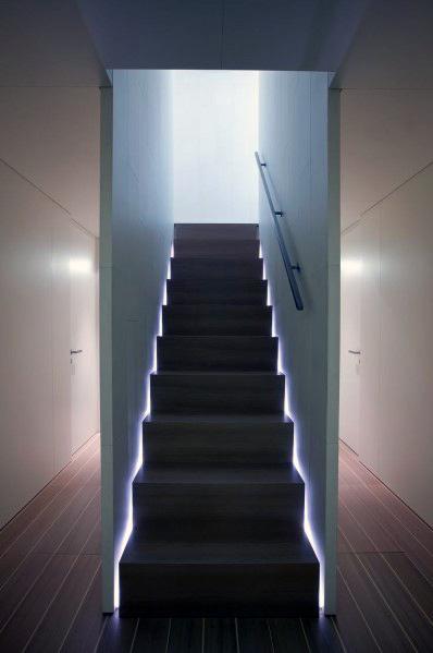 Basement Stair Lighting Pendant: Top 60 Best Staircase Lighting Ideas