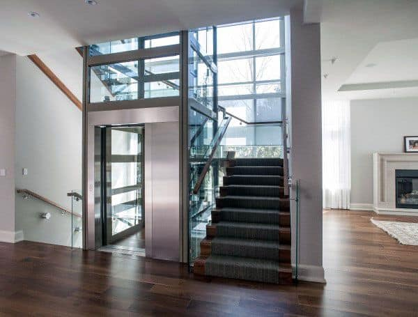 Stairs With Elevator Unique Design Ideas