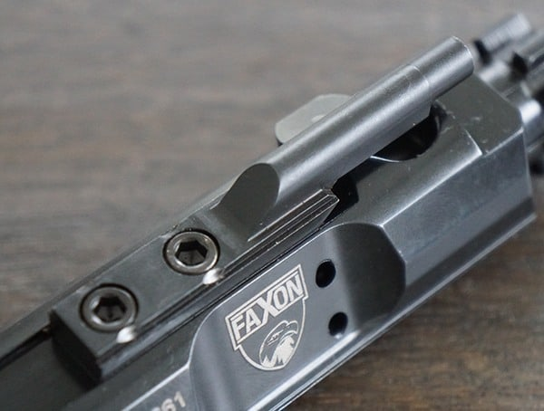 Staked And Keyed Faxon Firearms 308 Full Mass Bolt Carrier Group Complete Nitride