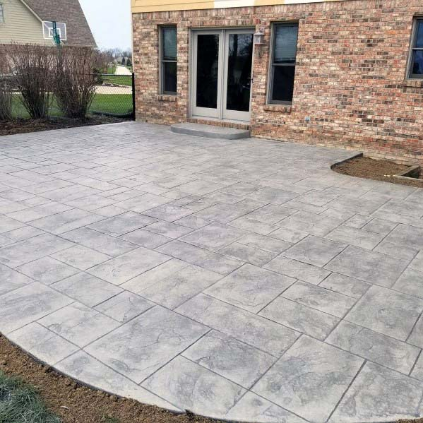 Stamped Concrete Patio Backyard Design