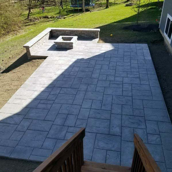 Top 50 Best Stamped Concrete Patio Ideas - Outdoor Space ... on Outdoor Concrete Patio Ideas id=16880