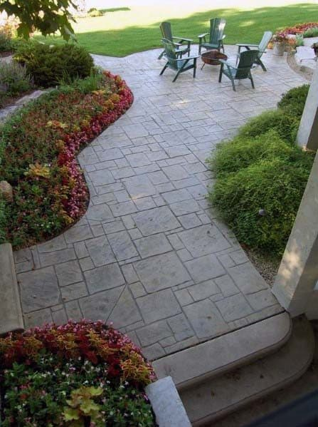 Stamped Concrete Patio Cool Backyard Ideas