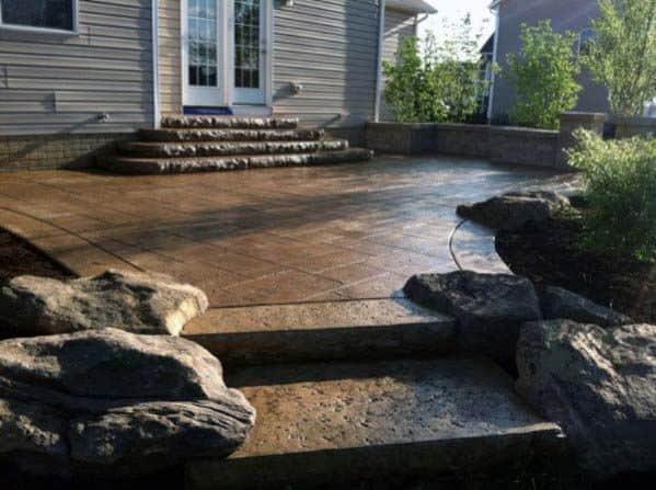 Stamped Concrete Patio Design Idea Inspiration