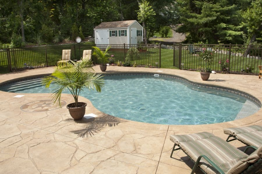 Stamped Concrete Pool Deck Ideas 1