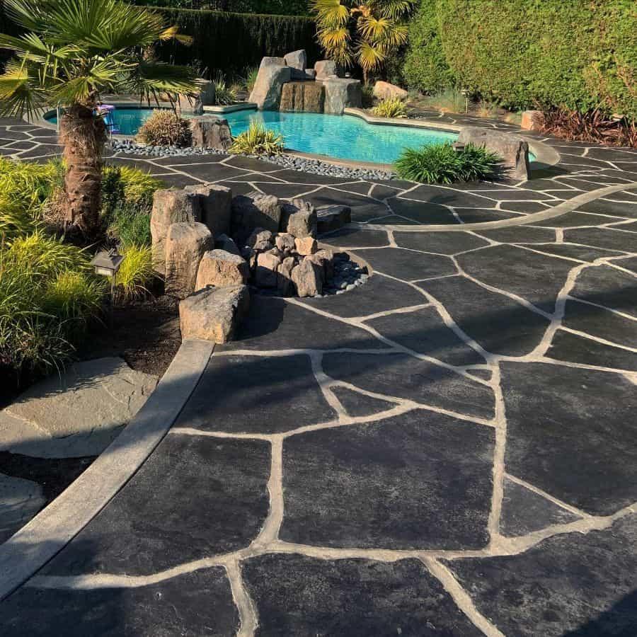 Stamped Concrete Pool Deck Ideas Crackorjackconcrete