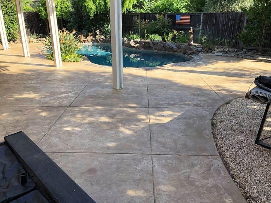 Stamped Concrete Pool Deck Ideas Cretoseal