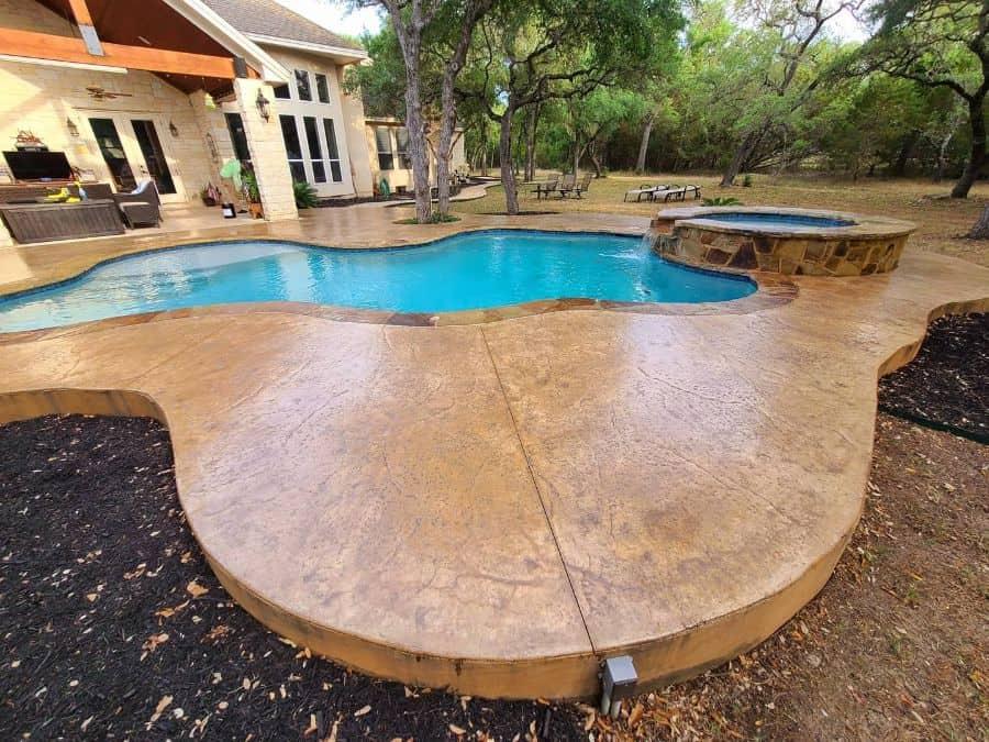 Stamped Concrete Pool Deck Ideas Deepcleantx