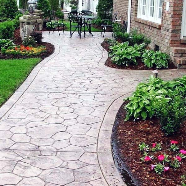 Stamped Exterior Designs Concrete Walkways