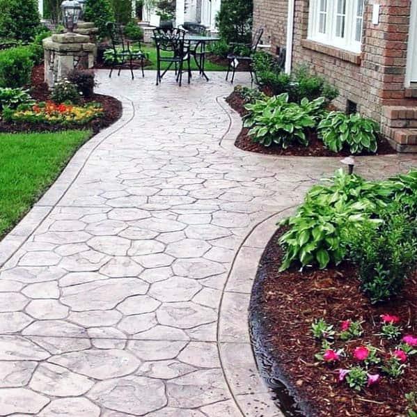 Stamped Exterior Designs Concrete Walkways