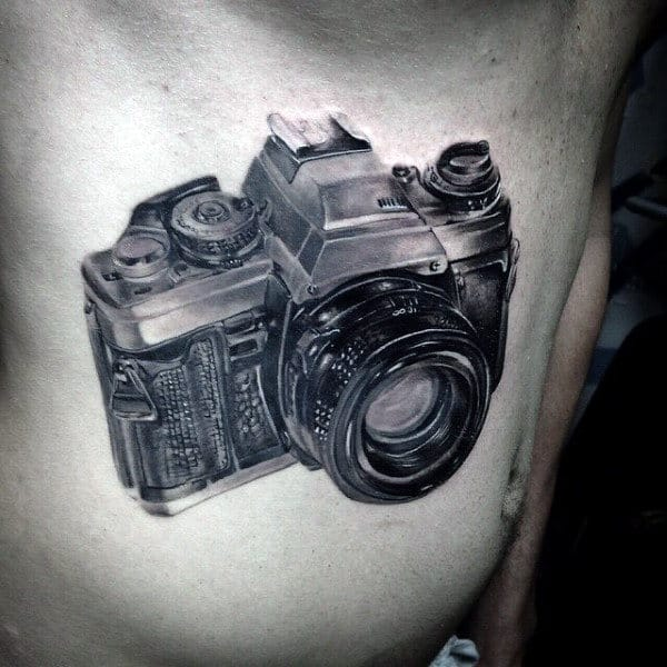 Standard Camera Tattoo Male Chest