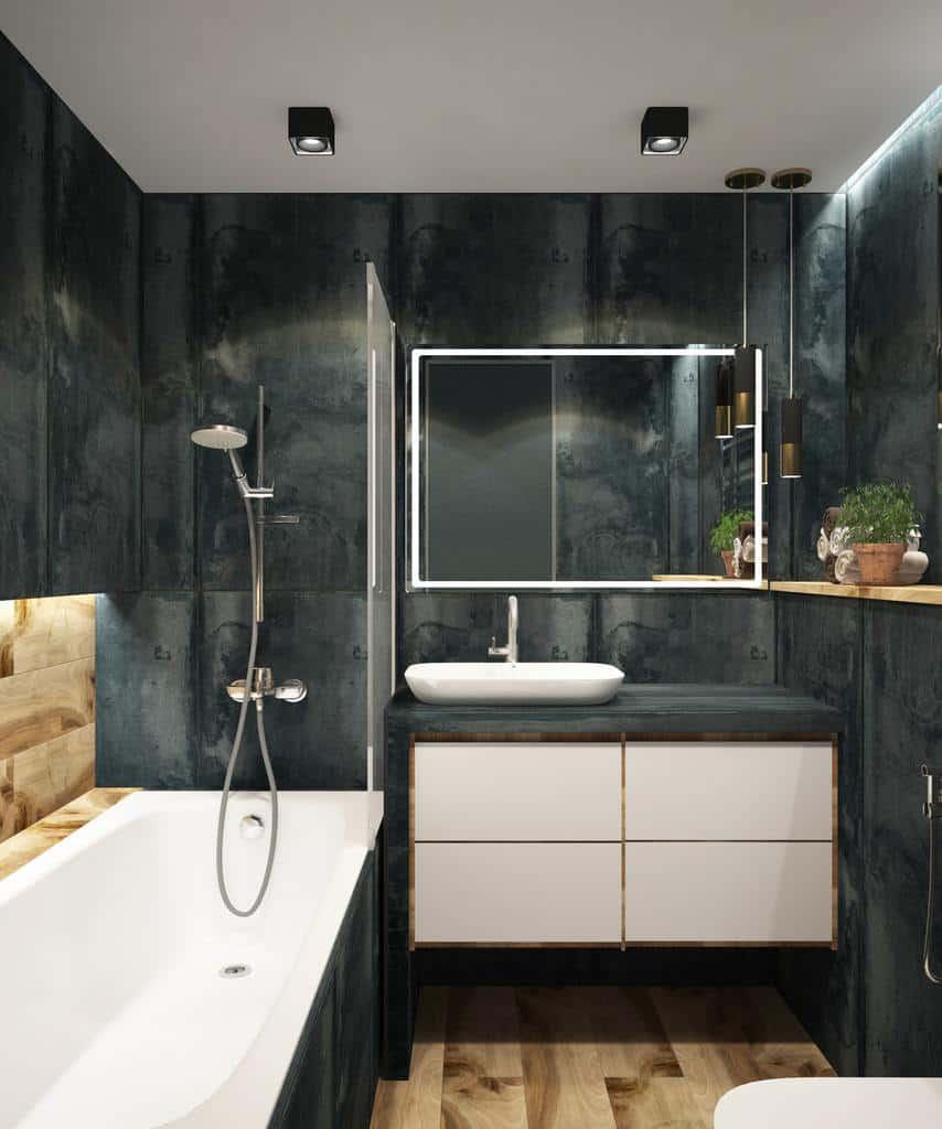 Standing Cabinet Style Vanity Bathroom Storage Ideas 2