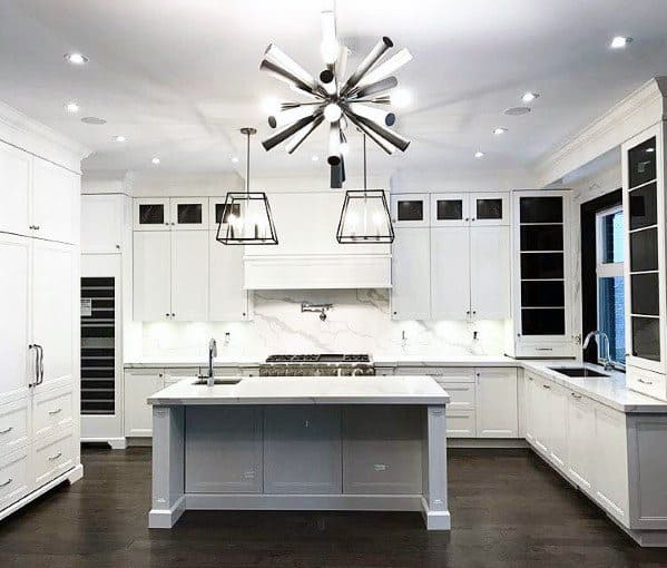 Small Kitchen Lighting Tips: Top 50 Best Kitchen Island Lighting Ideas
