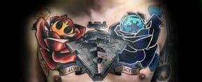 20 Star Destroyer Tattoo Designs For Men – Star Wars Ink Ideas