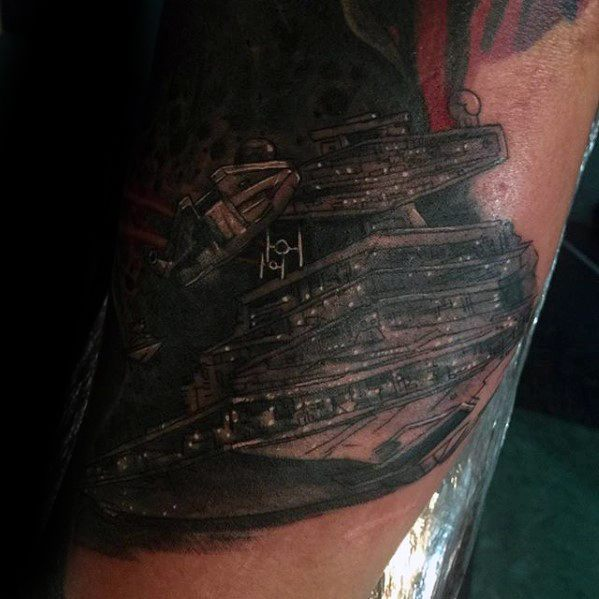 Star Destroyer Tattoo Ideas For Males