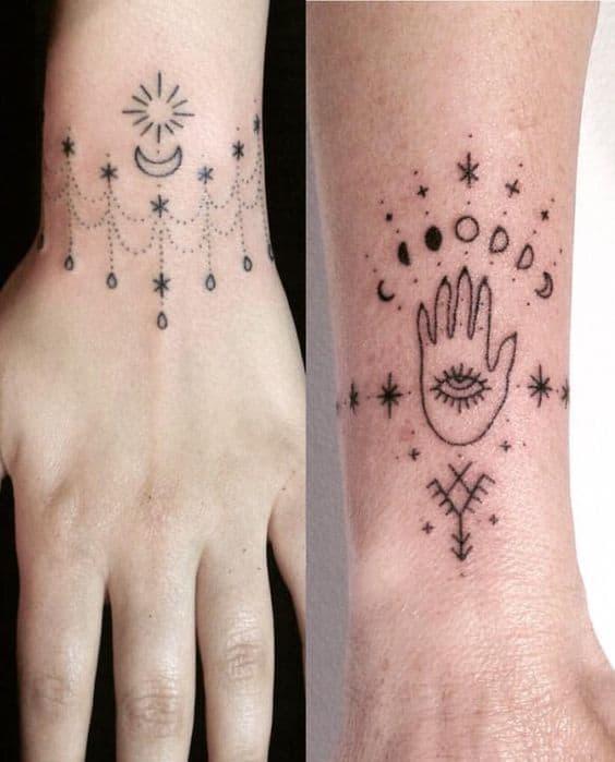 Star Hand Third Eye Tattoo