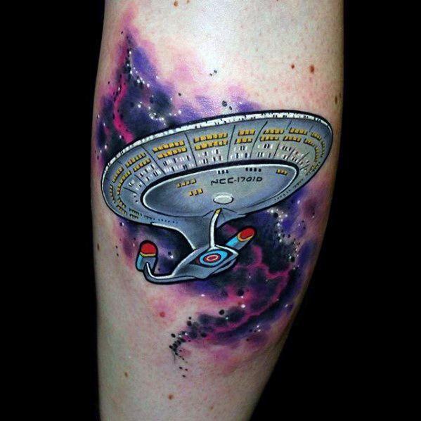 Star Trek Tattoo Ideas On Guys On Leg