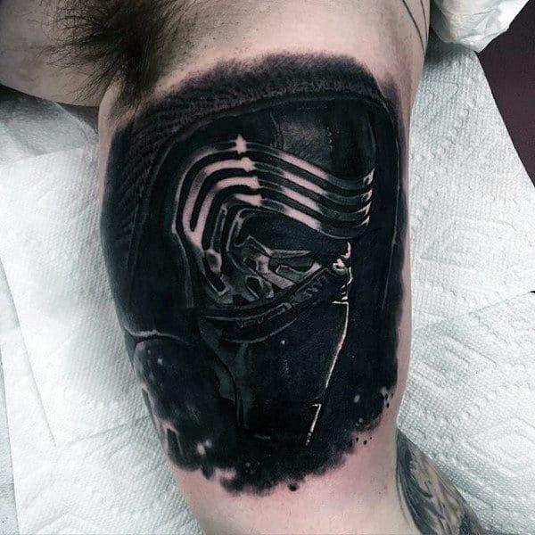 Star Wars Black Ink Inner Arm Guys Tattoos