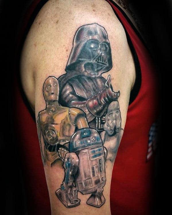 Star Wars Characters Male Rd2d Upper Arm Tattoo