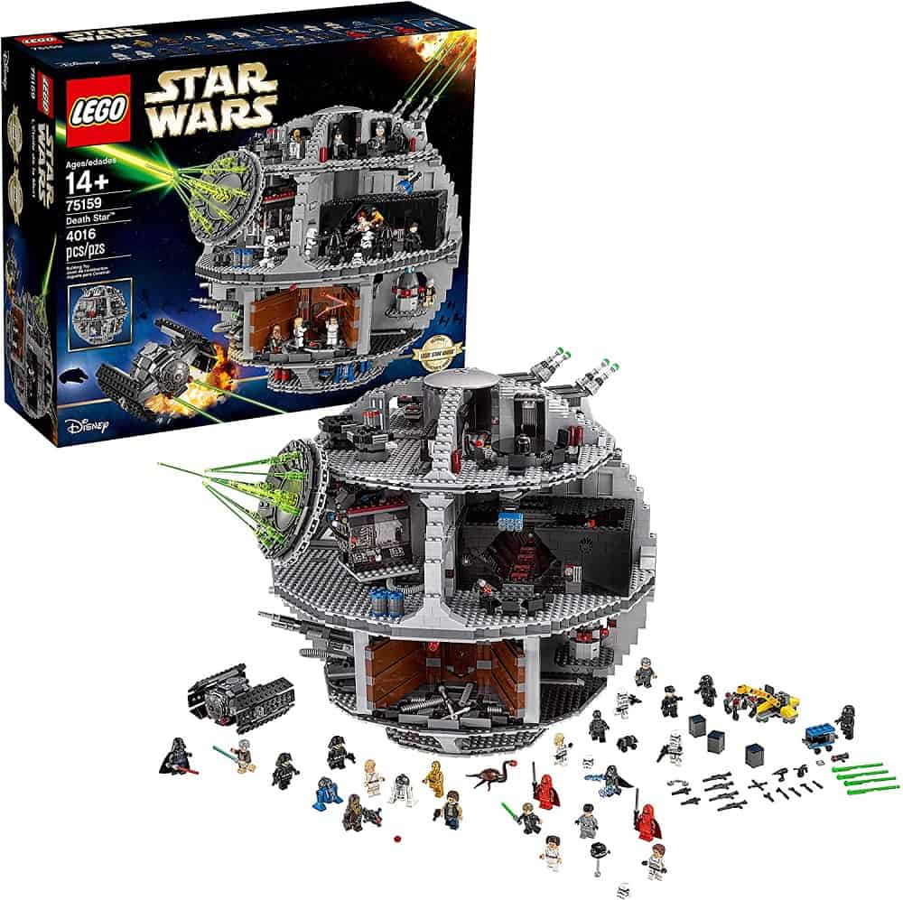 lego star wars death star space station building kit